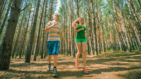 Jogging in Wood