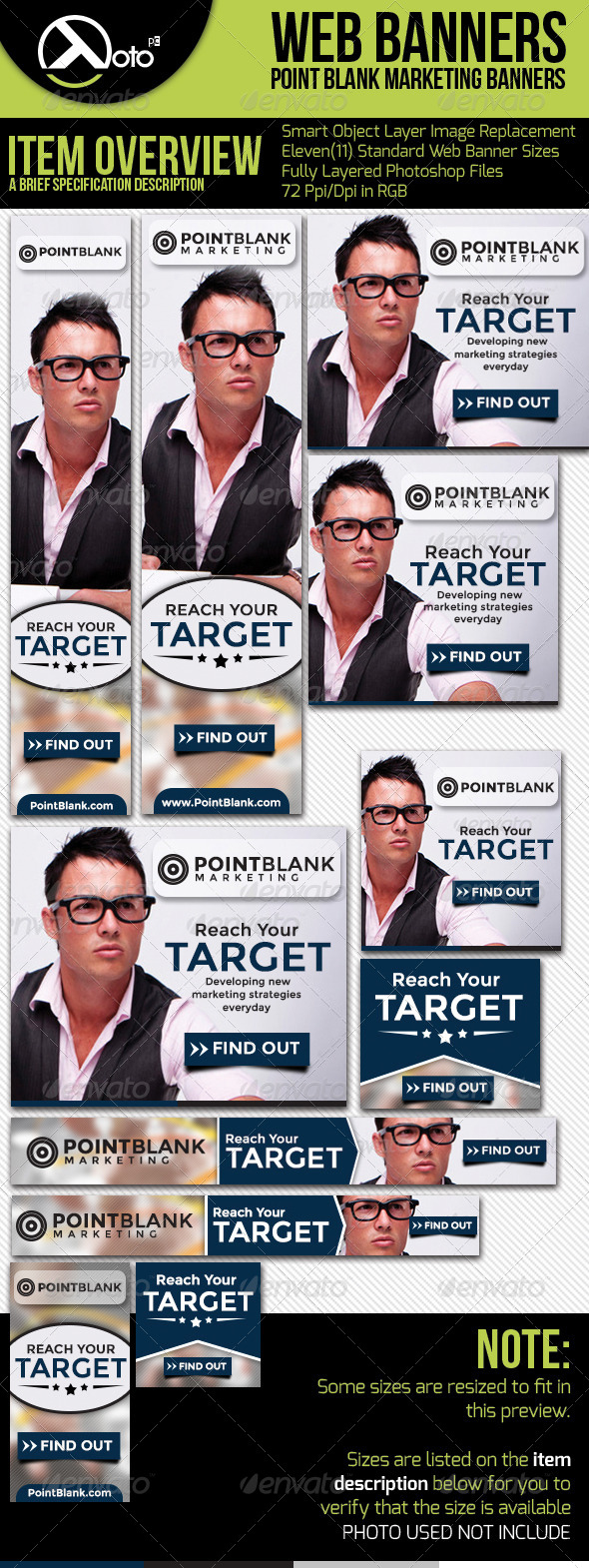 GraphicRiver Point Target Marketing Web Banners 5877253