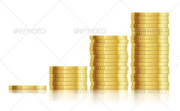 GraphicRiver Trade Diagram with Golden Coins Money 5877604