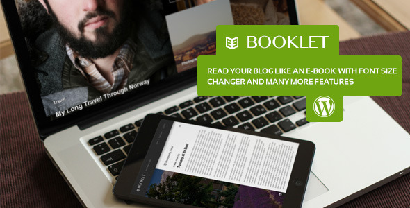 ThemeForest Booklet Personal Blogging Theme 5861111