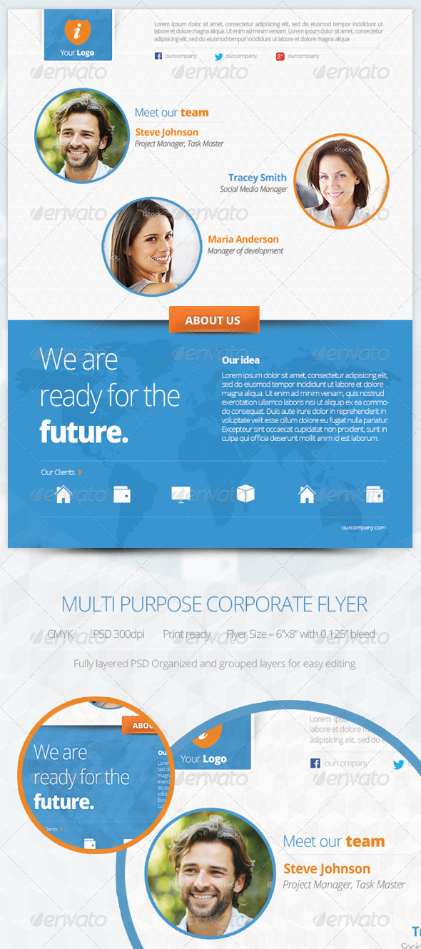 GraphicRiver Multipurpose Corporate Flyer 5819538