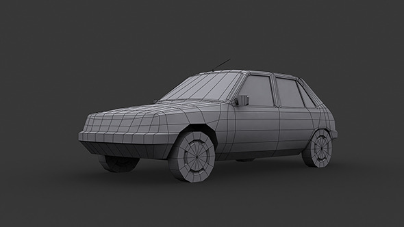 3DOcean Peugeot 205 Low Poly 5878057