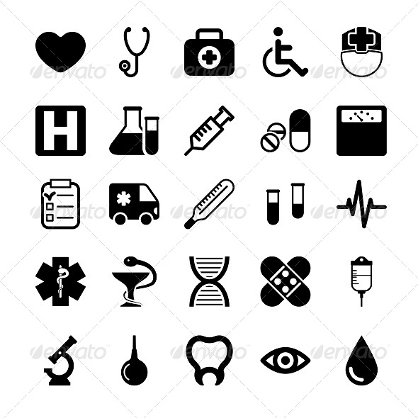 GraphicRiver Medical Icons Set 5878161