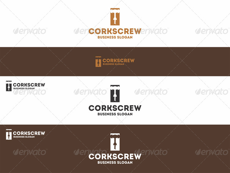 Wine Corkscrew Logo