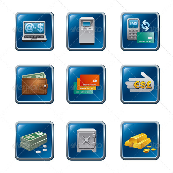 GraphicRiver Banking Icon Set 5862255