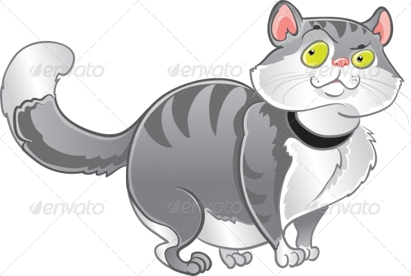 GraphicRiver Grey Fat Cat 5880101