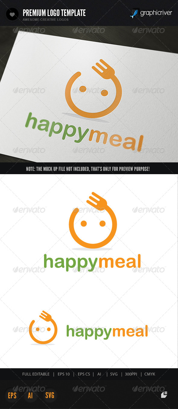 GraphicRiver Happy Meal Logo 5880155