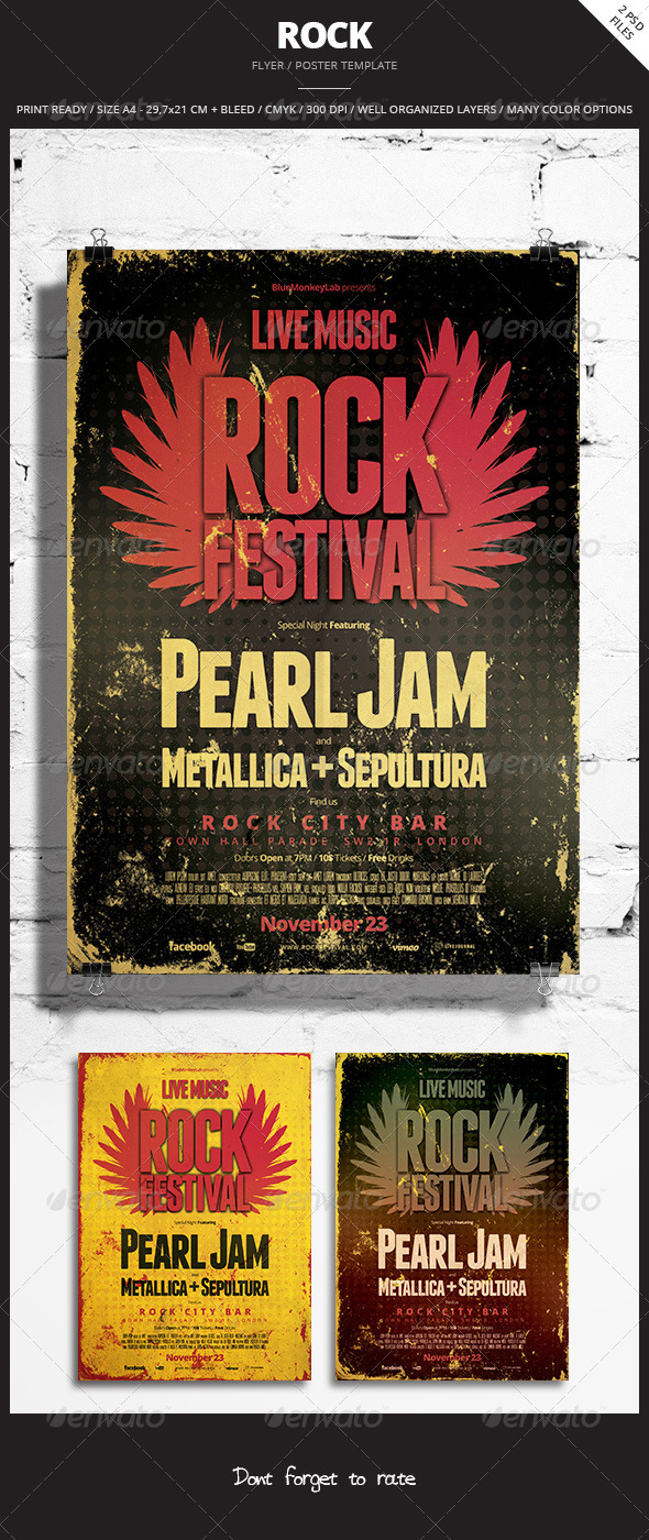 GraphicRiver Rock Flyer Poster 7 5880487