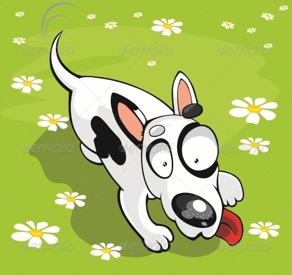 GraphicRiver Vector Bull Terrier 5880950
