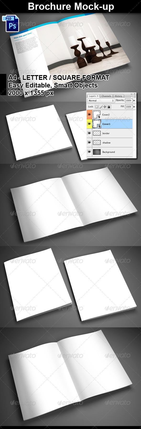 GraphicRiver 4 PSD Brochure Mock-Ups 5841075