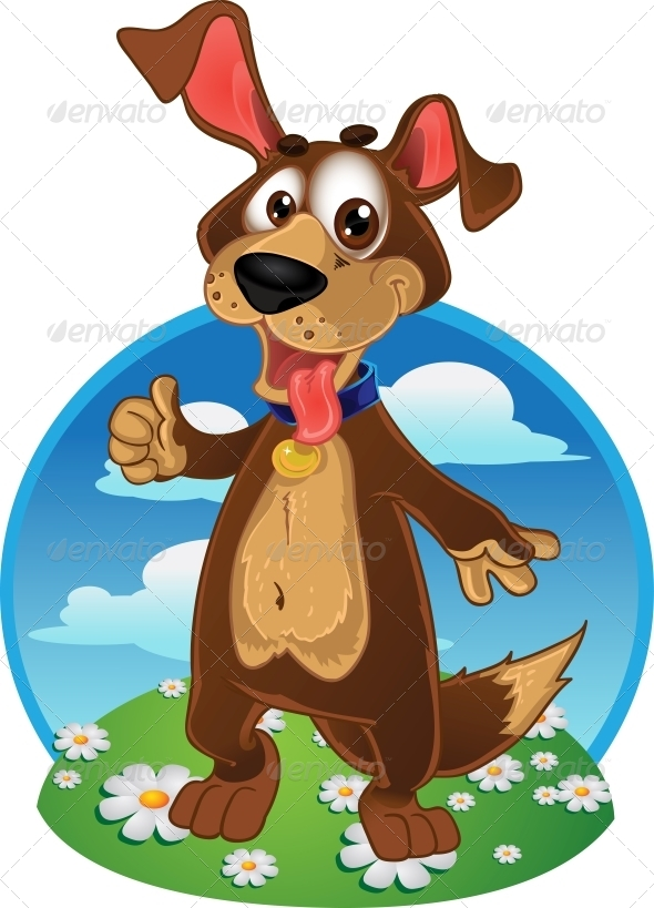 GraphicRiver Dog on a Color Background 5880952