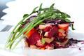 Vinaigrette salad with salmon