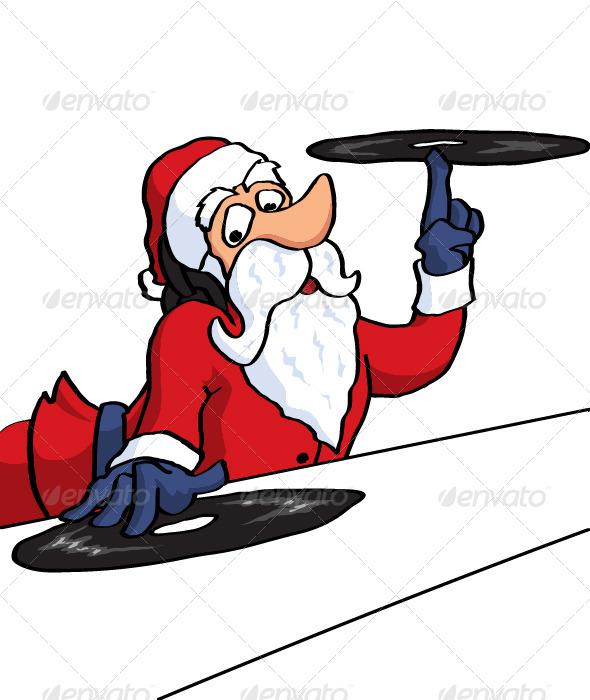GraphicRiver DJ Santa 5881132