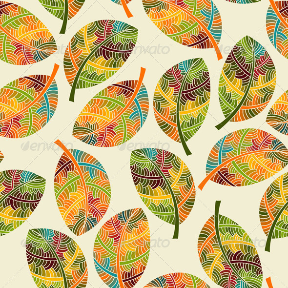 GraphicRiver Vector Seamless Pattern with Autumn Leaves 5881224
