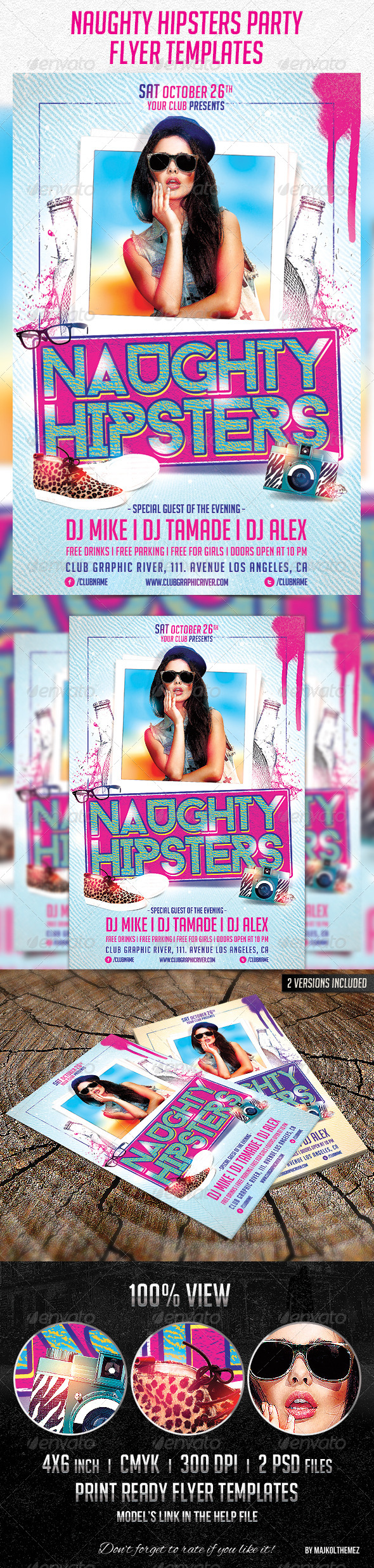 GraphicRiver Naughty Hipsters Flyer Templates 5881333