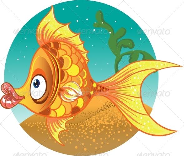 GraphicRiver Gold Fish Vector 5881367
