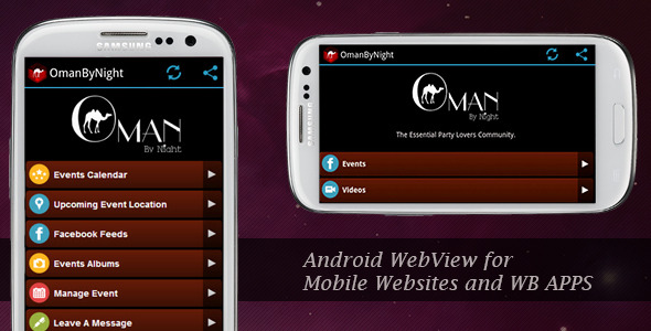 CodeCanyon WebView for Mobile WebSites and Mobile Web Apps 5853489