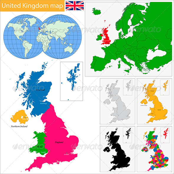 GraphicRiver United Kingdom Map 5881578
