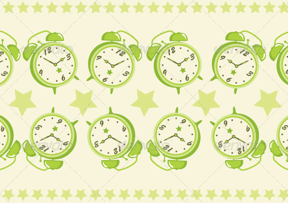 GraphicRiver Alarm Clock Pattern Background 5881934