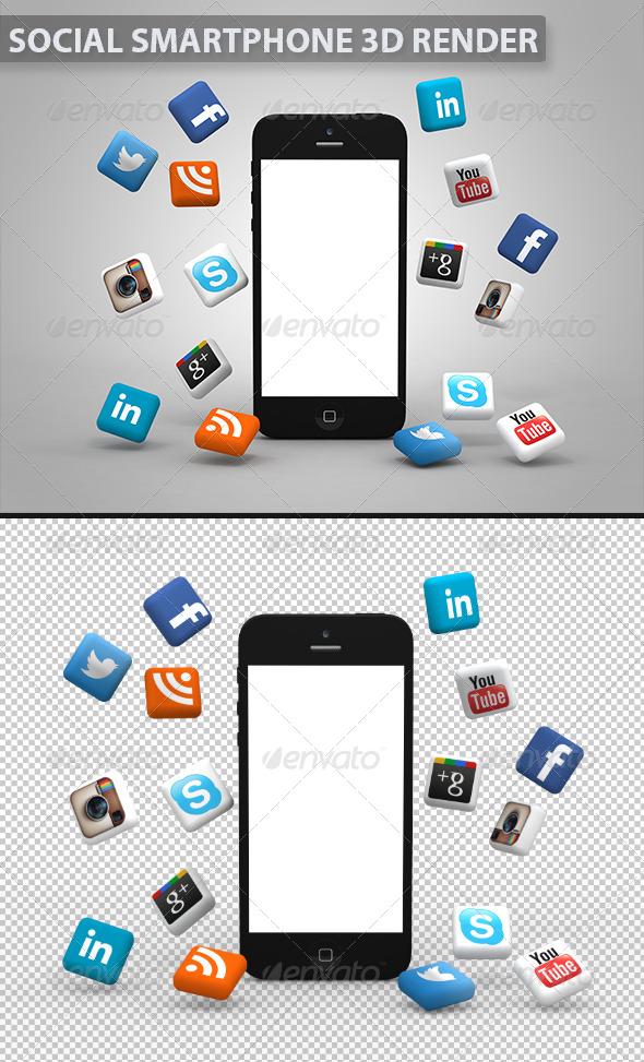 GraphicRiver Social Media Smartphone 5881971
