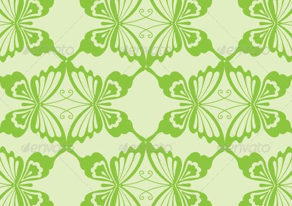 Green Butterfly Pattern Design