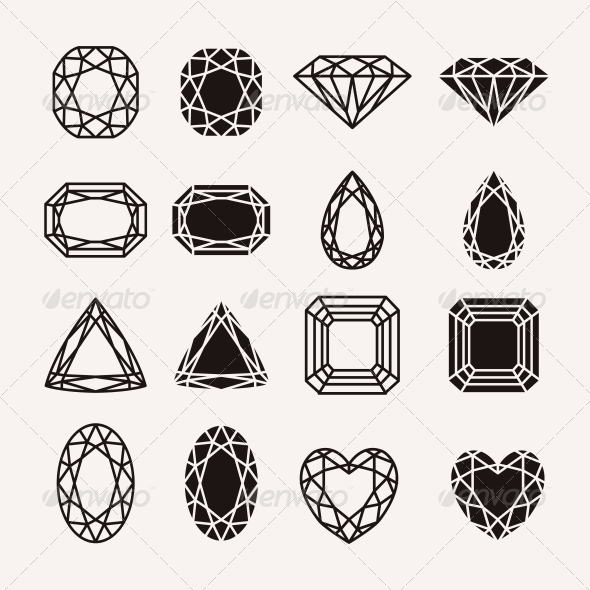 GraphicRiver Diamond Icons 5882021