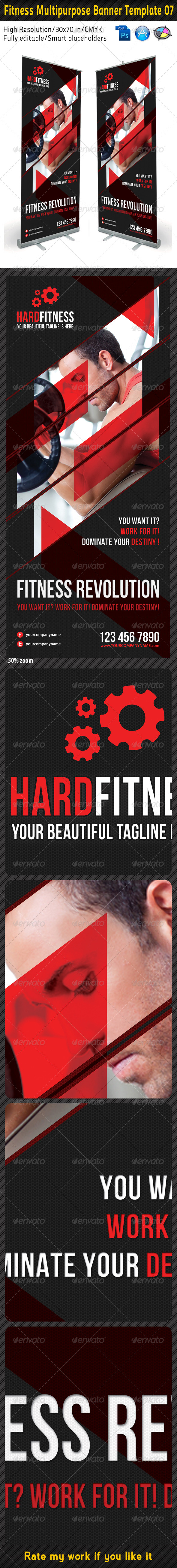 Fitness Multipurpose Banner Template 08 - Signage Print Templates
