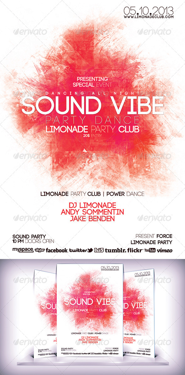 GraphicRiver Sound Vibe Flyer 5882190