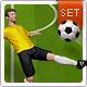 The Soccer Set - Kicker Icons, Field and Elements - GraphicRiver Item for Sale