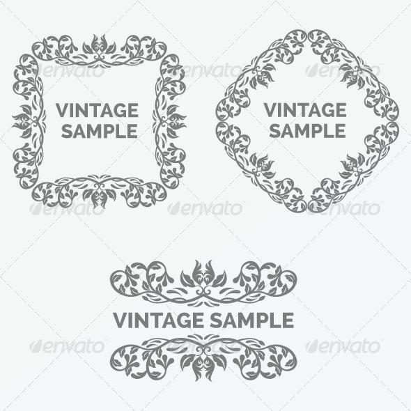 GraphicRiver Vintage Frames 41 5882330