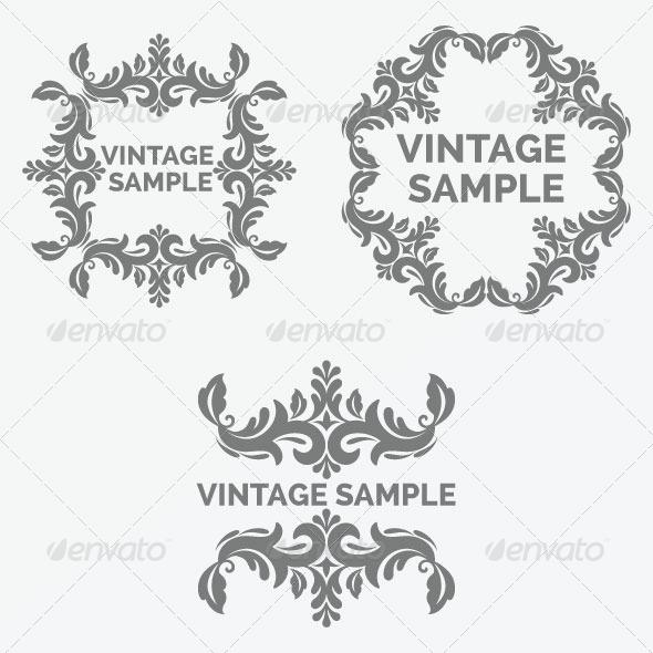 GraphicRiver Vintage Frames 43 5882334