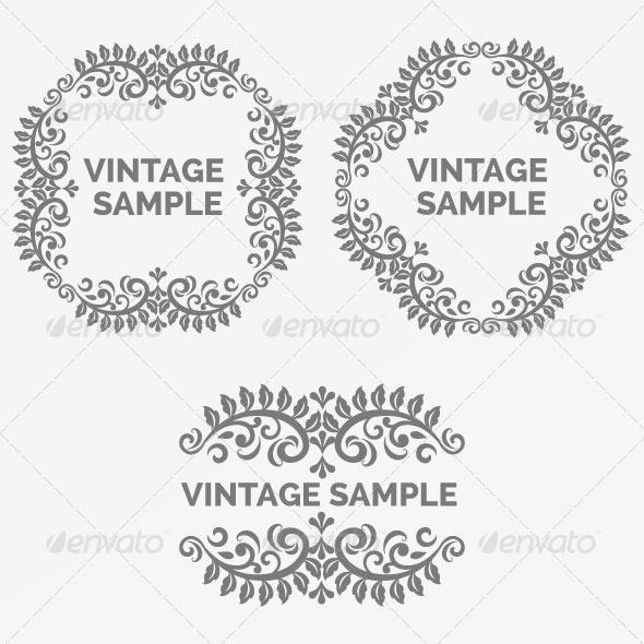 GraphicRiver Vintage Frame 45 5882343
