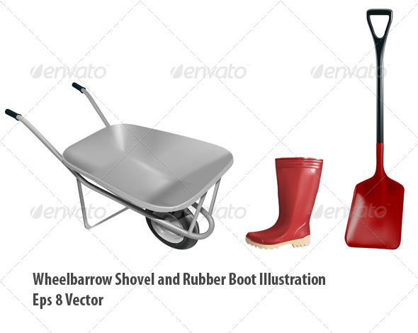 GraphicRiver Gardening Equipment 5882344