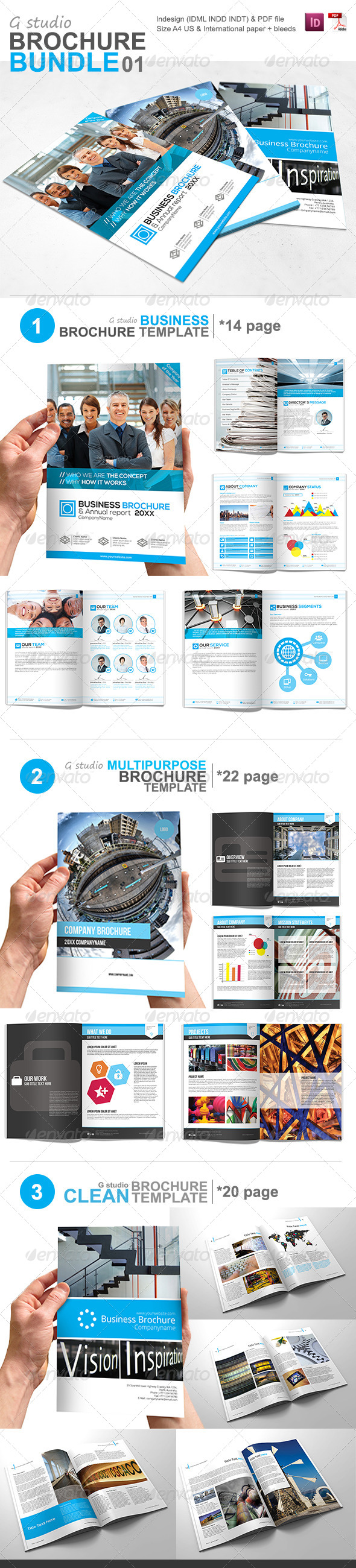 GraphicRiver Gstudio Brochure Bundle 01 5882349