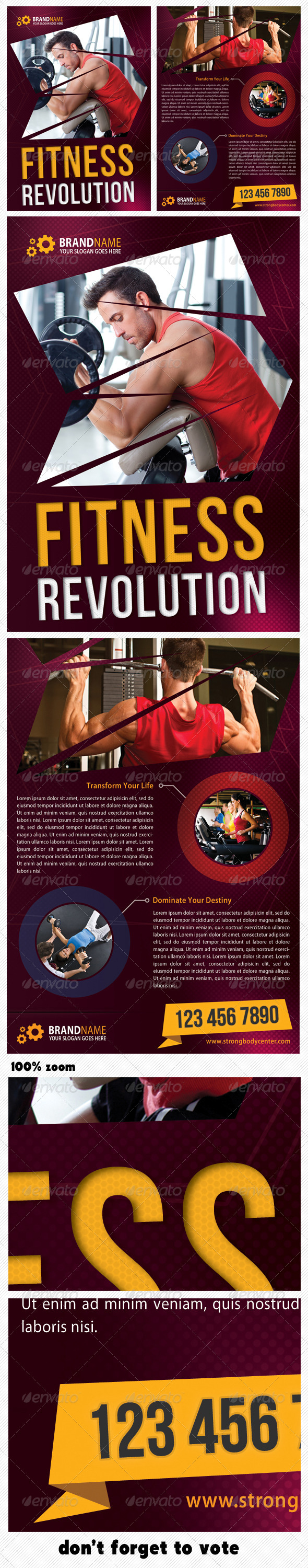 GraphicRiver Sport Multipurpose Flyer 06 5843442