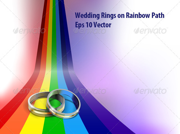 GraphicRiver Gay Weding Rings 5882392