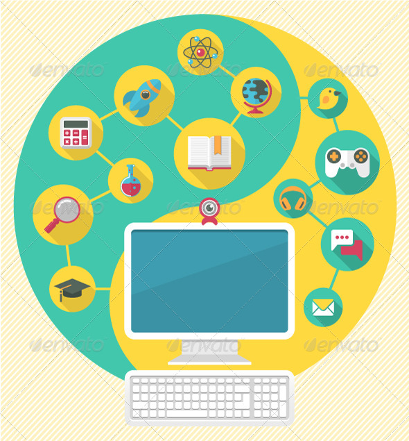 GraphicRiver Computer for Education and Spare Time 5882418