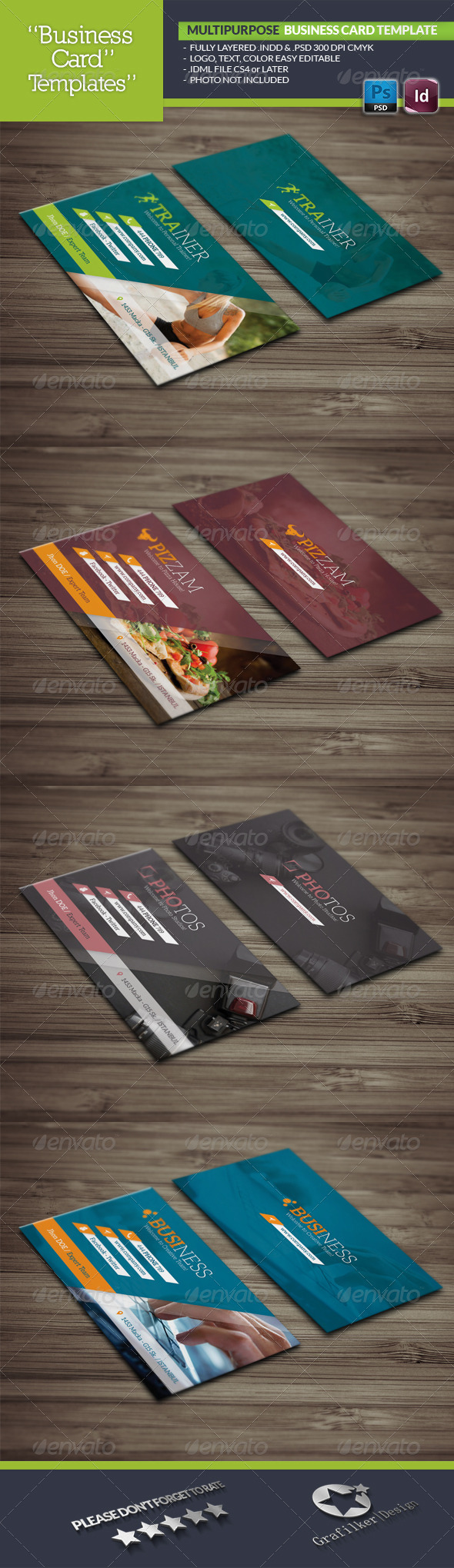 GraphicRiver Multipurpose Business Card Template 5882537