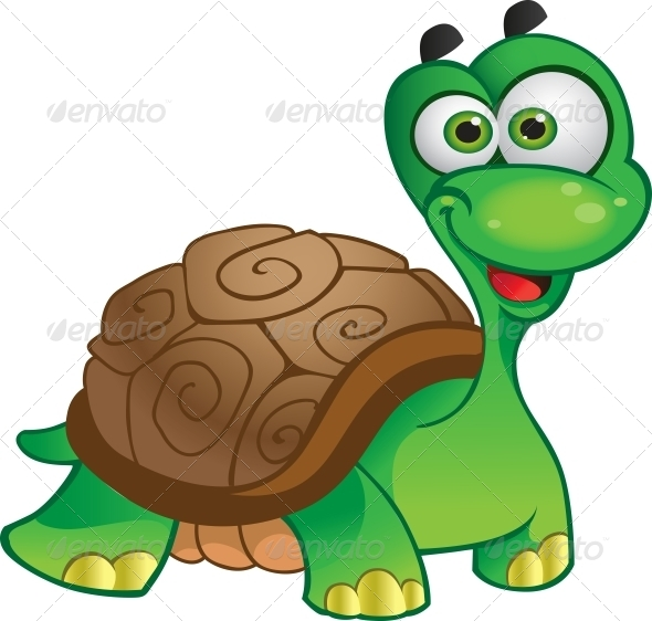 GraphicRiver Vector Tortoise Isolated on White 5883148