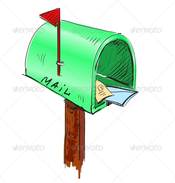 GraphicRiver Mailbox Cartoon Icon 5883407