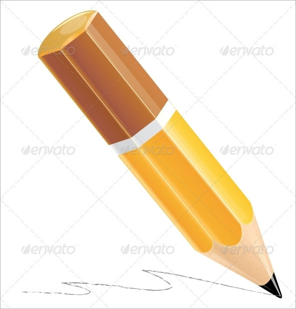 GraphicRiver Pencil Isolated on White 5883456