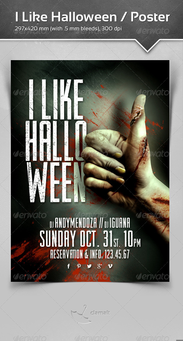 GraphicRiver I Like Halloween Poster 5883482