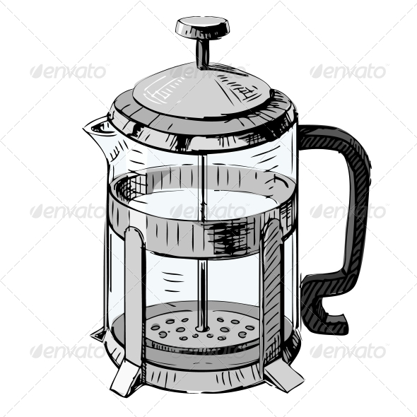 GraphicRiver French Press Tea Pot 5883486