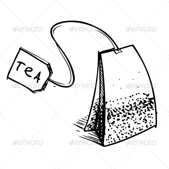 GraphicRiver Tea Bag with Label 5883505