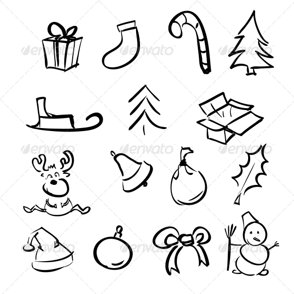 GraphicRiver Christmas Objects Collection 5883547