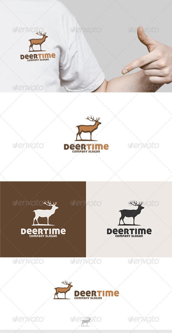 GraphicRiver Deer Time Logo 5883549