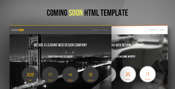 ThemeForest ComingSoon HTML5 CSS3 Template 5883565