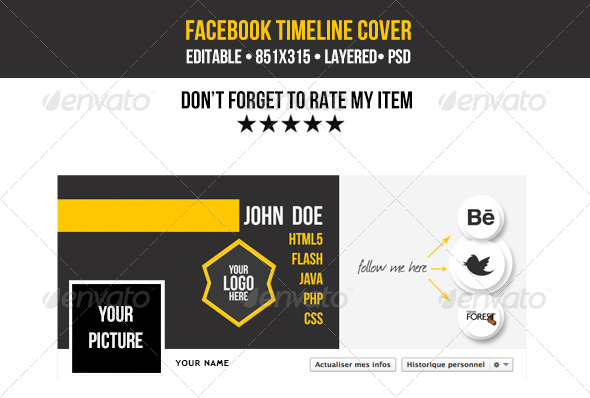 GraphicRiver Cool Timeline Facebook Cover 5856595