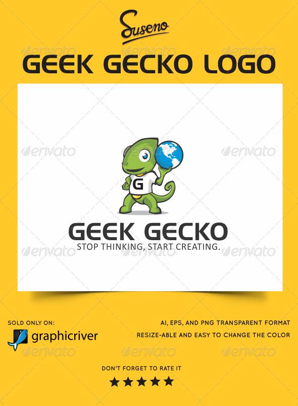 GraphicRiver Geek Gecko Logo 5850572