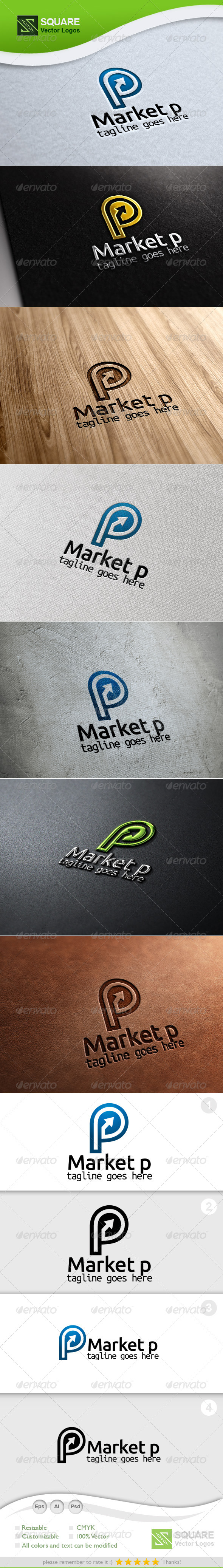 GraphicRiver P Market Vector Logo Template 5883934